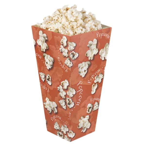 Recyclable Popcorn Box middellange Grootte Tapered Unlidded-Enkele