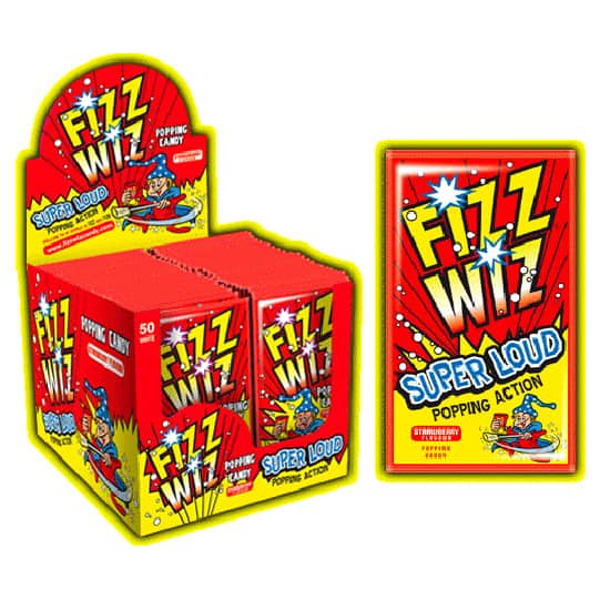 Strawberry Flavor Fizz Wiz Popping Candy - Single