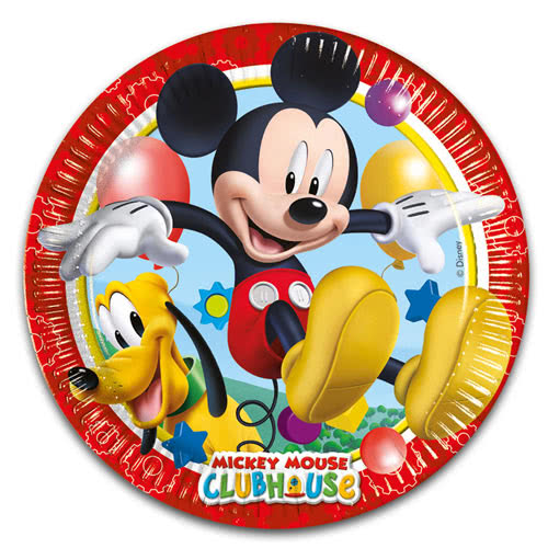 Mickey Mouse Clubhuis Papieren Bord 23Cm