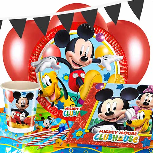 Mickey Mouse Clubhuis 8-Persoons Deluxe Feestpakket