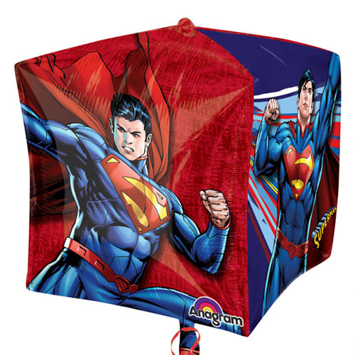 Superman Cubez Folie Heliumballon 38Cm / 15 In