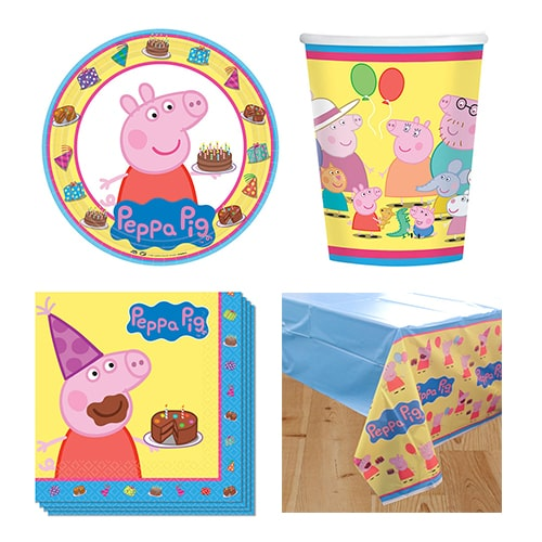 Peppa Pig Theme 8 Person Value Party Pack