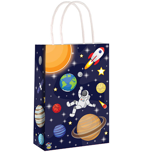 Space Paper Bag With Handles 21cm