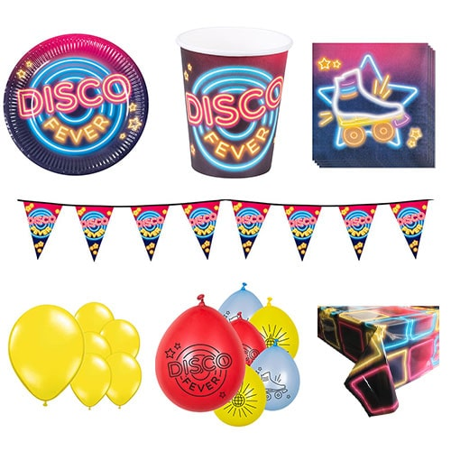 Disco Koorts 12 Persoons Deluxe Party Pack