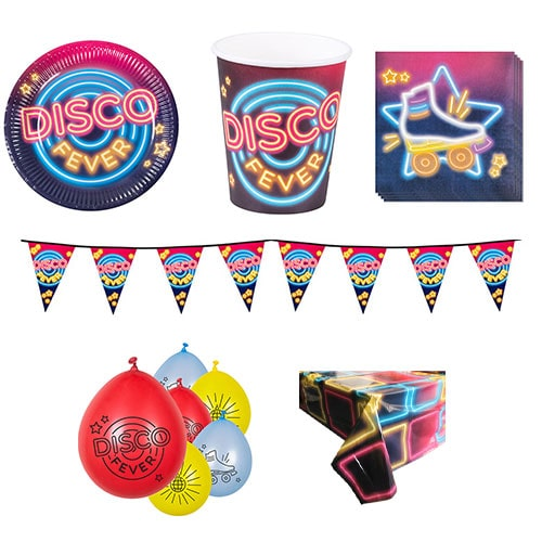 Disco Koorts 6 Persoons Deluxe Party Pack