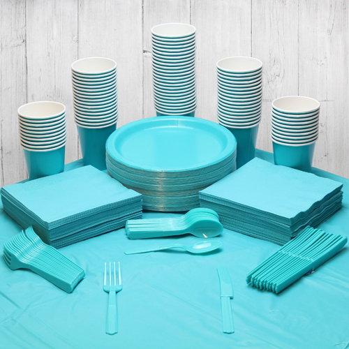 Caribbean Teal Party Pack Voor 98 Personen